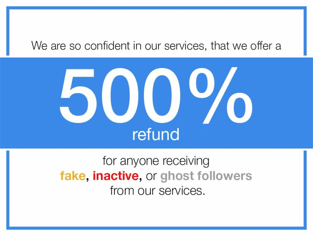 500% Guarantee Instagram Followers