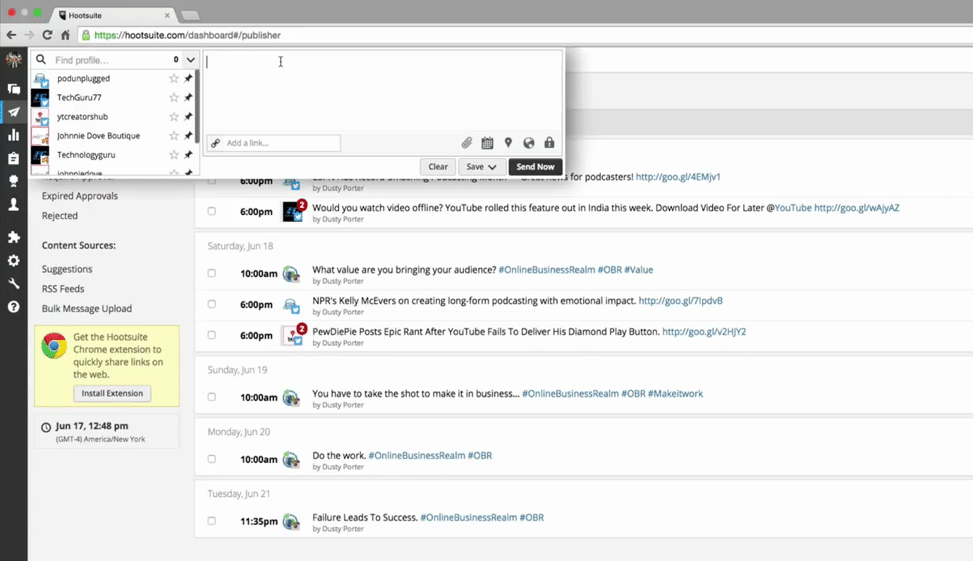 How to Schedule a Post via HootSuite